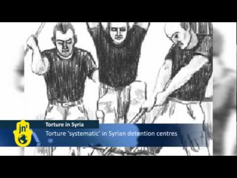 Refugees Depict Torture Methods in Syria's Detention Centers: Human Rights Watch Documents