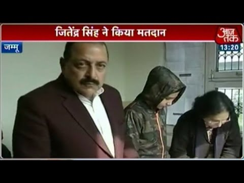 J&K elections: Union Minister Jitendra Singh casts his vote