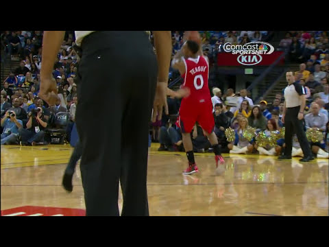 Mike Scott Knocks Down the Shoeless Three-Pointer