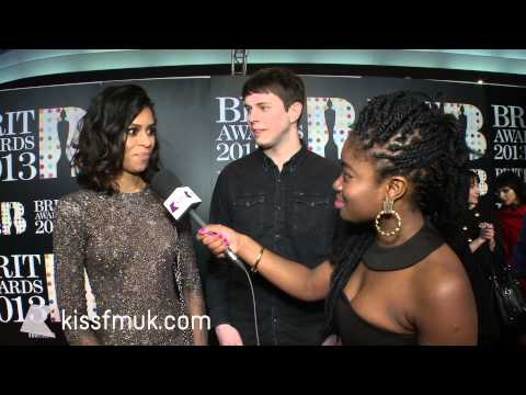 AlunaGeorge at the 2013 BRITs with KISS FM (UK)