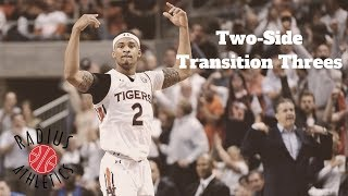 Auburn Tigers | Two-Side Transition Threes