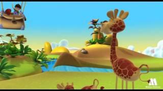GIRAFFE - exploring jungle animals with kids, Alex cartoon videos
