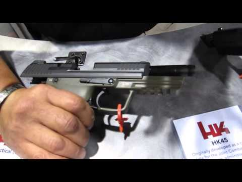 Heckler & Koch HK 45 Tactical at SHOT Show 2013