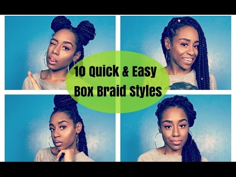 HOW TO: Style Jumbo Box Braids 2016  10 Quick & Easy Protective Styles
