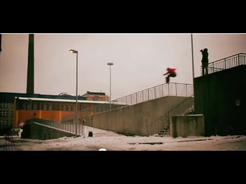 Jibbing East Germany snowboarding