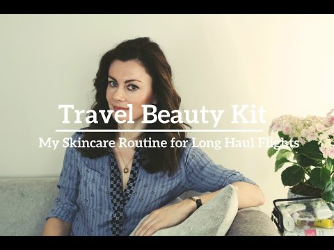Travel Beauty Kit: My Skincare Routine For Long Haul Flights | Dr Sam In The City