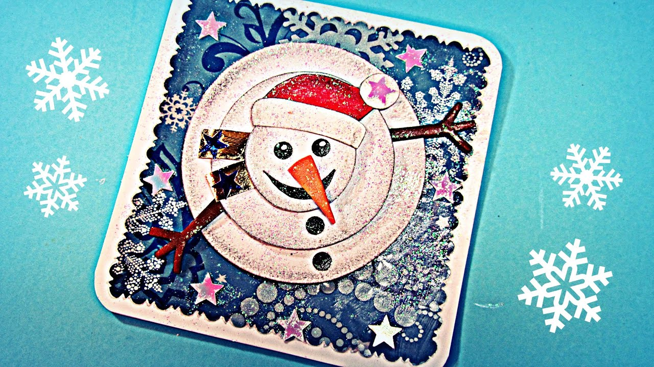 Tutorial tarjeta de navidad 3d christmas card youtube - Ideas para hacer postales de navidad con ninos ...