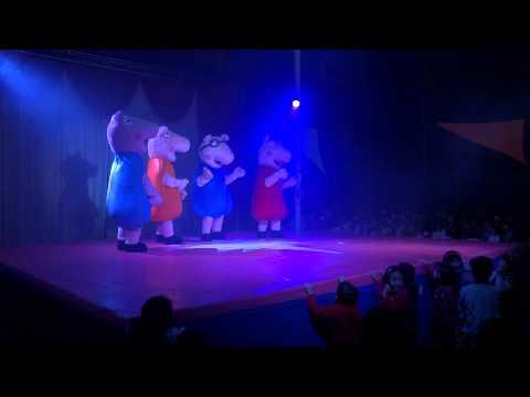 Apresentação de Circo com a Familia da Peppa Pig