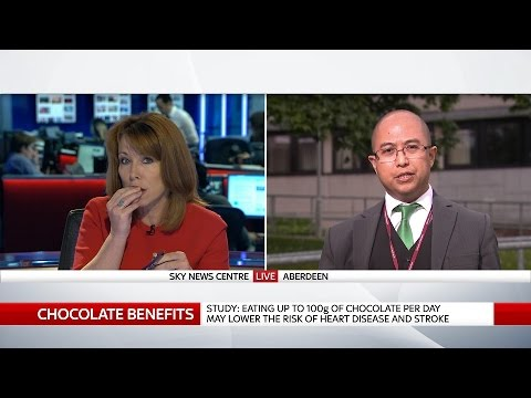 Kay Burley's Chocolate Break On Sky News