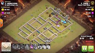 ELECTRO DRAGONS ATTACKS in WAR on TH12 - Clash of Clans