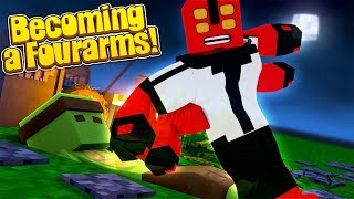 HOW TO BECOME...FOURARMS IN MINECRAFT FROM BEN 10!