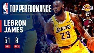 LeBron James Drops A Season High 51 POINTS In Miami | November 18, 2018