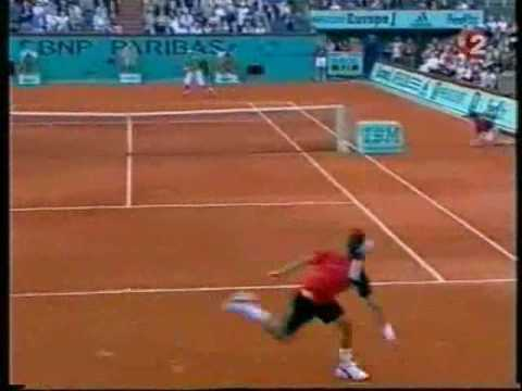 Roger Federer hits a magical shot against Rafael Nadal Music Videos