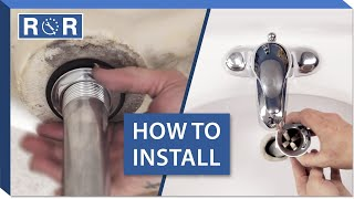 (3.50 MB) How to Install a Bathroom Sink Drain | Repair and Replace Mp3