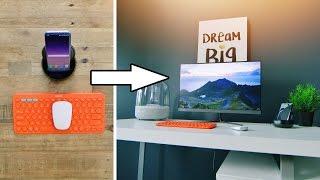 I turned my Galaxy S8 into a Desk Setup