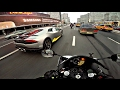Интенсивный прохват на мотоцикле под музыку 4к Yamaha R1 Triumph Street Triple mp3