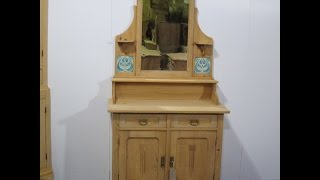 Beautiful Art Nouveau Mirror back Sideboard/Dresser  - Pinefinders Old Pine Furniture Warehouse