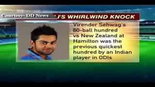 Virat Kohli hits fastest ODI century by an Indian