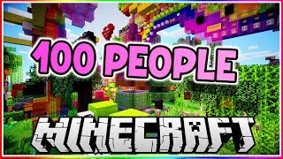 I Got 100 People to Build a Castle at the Same Time!!