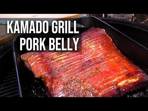 Pork Belly on the grill by the BBQ Pit Boys