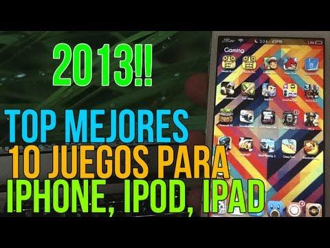 Top de los 10 mejores juegos para iPhone, iPod Touch y iPad - 2013
