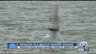 Message in a bottle washes ashore