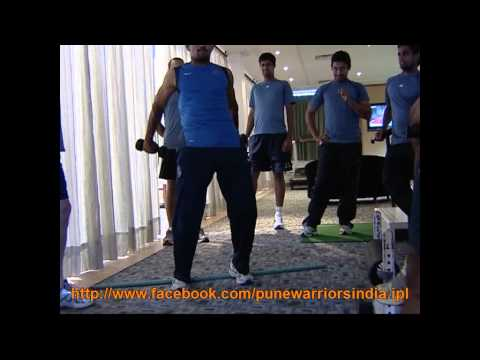 Pune Warriors in Gym