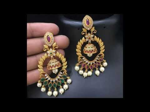 Latest Light Weight Gold Earring Designs