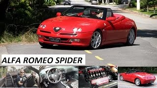 Garagem do Bellote TV: Alfa Romeo Spider (kit Novitec, escape esportivo e rodas 17)