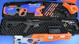 Airsoft Guns VS Nerf Guns Toys ! Weapons Toy Box of Toys
