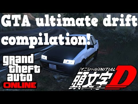 Ultimate GTA drifting compilation! - Initial D fan video
