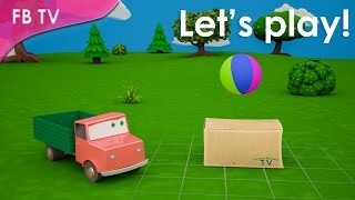 Prepositions of place for kids. Game from Funny Bunny TV