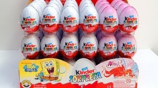 (16.9 MB) ★24 Spongebob & Winx Kinder Surprise Eggs unboxing chocolate Unwrapping Review toys Mp3