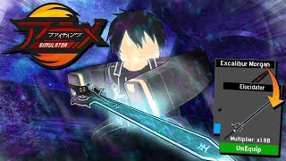 BLACK SWORDSMEN *KIRITO* USES *STRONGEST* ELUCIDATOR SWORD VS FULL SERVER! ANIME FIGHTING SIMULATOR