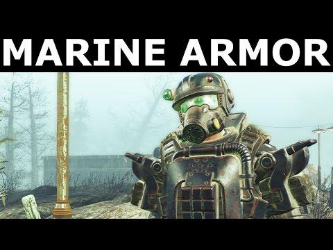 Fallout 4 Far Harbor - Find The Marine Combat Armor Shipments (Marine Wetsuit & Tactical Helmet)
