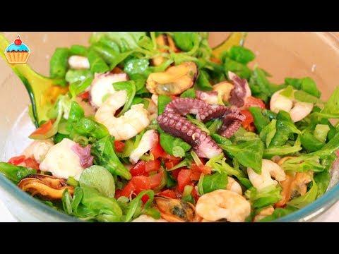Салаты с морепродуктами рецепты
