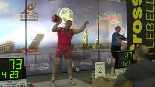 202 reps 32 kg kettlebell snatch in White night competition 2016 Ivan Denisov
