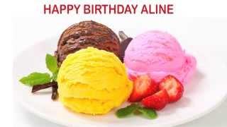 Aline english pronunciation   Ice Cream & Helados y Nieves - Happy Birthday