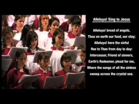 Alleluya, Sing To Jesus hymn with on-screen LYRICS