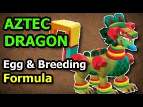 Dragon City AZTEC DRAGON from DEUS VAULT Breeding Formula and Egg