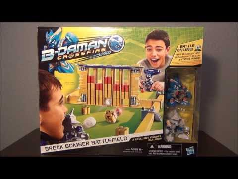 B-DAMAN CROSSFIRE Break Bomber Battlefield (Hasbro) ~Unboxing~Review~Test~