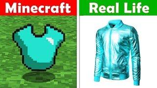 DIAMOND SHIRT REAL LIFE! Minecraft vs Real Life animation CHALLENGE