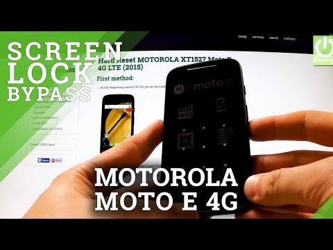 Hard Reset MOTOROLA XT1527 Moto E 4G LTE - Bypass Pattern Lock and Password