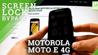 Hard Reset MOTOROLA XT1527 Moto E 4G LTE - Bypass Pattern Lock and Password
