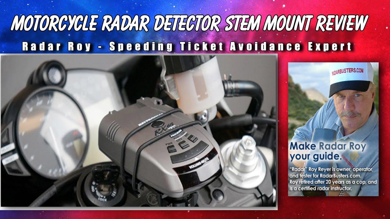 Motorcycle Radar Detector Stem