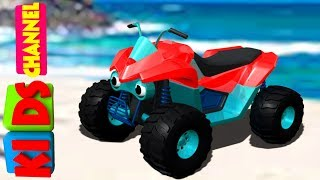kids channel | quad bike | 3d vehicles for children | educational videos