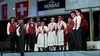 Swiss German singing group in Nendaz, Switzerland