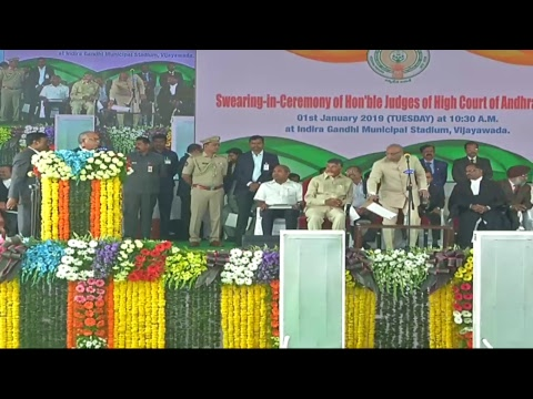 Swearing-in-Ceremony of Honorable Judges of High Court of Andhra Pradesh LIVE