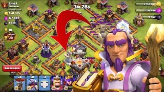 "Clash of Clans - NEW HERO ""Grand Warden"" ON DEFENSE GAMEPLAY"