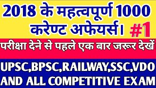 current affairs in hindi 2018 | current affairs for upsc 2018 |  current affairs quiz  2018 in hindi